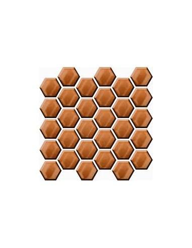 Mozaika Copper Glass Hexagon 25x25,8...
